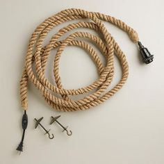 One of my favorite discoveries at WorldMarket.com: Jute Rope Electrical Cord Swag Kit