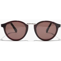 MADEWELL Indio Sunglasses ($55) ❤ liked on Polyvore featuring accessories, eyewear, sunglasses, rich plum crystal, retro round sunglasses, uv protection glasses, rounded glasses, retro sunglasses and madewell