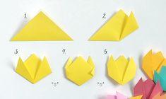 Bluebells Design per Casa facile: tulipani origami 2