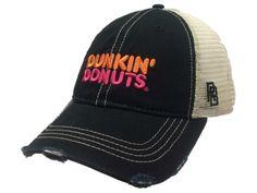 Dunkin' Donuts & Coffee Retro Brand Mesh Adjustable Snapback Trucker Hat Cap