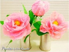 DIY : How to Make Peony Paper Flower for Room Decoration - YouTube
