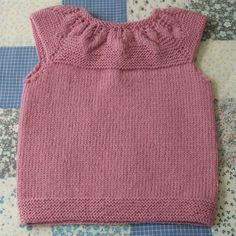 Toddler's Vest, Leaf Yoke Design
