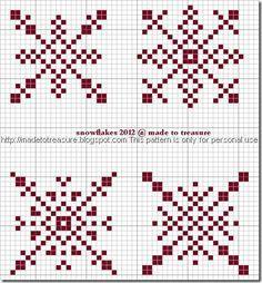 cross stitch snowflakes 2012 b