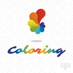 """Coloring!Abstract letter """"C"""" !"""