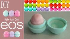 DIY: Make Your Own EOS Lip Balm! (Recycle Old EOS Container)... I use beeswax, shea butter and coconut oil.