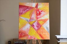 Geometry #abstractart #acrylic Geometry, Abstract Art, Instagram Posts, Painting, Painting Art, Paintings, Painted Canvas, Drawings