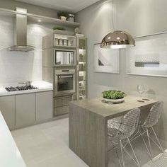 Por @carolcantelli_interiores Cozinha clarinha, linda e funcional! ☺️