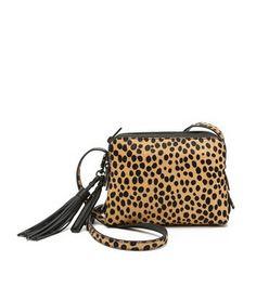 cheetah triple zip bag