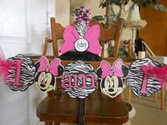 Birthday Petite Minnie Mouse Zebra and by ASweetCelebration Minnie Mouse Party Decorations, 1st Birthday Decorations, Birthday Ideas, Pink Parties, Girl First Birthday, First Birthdays, Party Supplies, Party Package, Kid Stuff