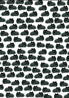 black cat pattern Cell phone Wallpaper / Background re-sizeable for all cells…