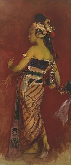 """John Singer Sargent (American, 1856–1925). A Javanese Dancer, 1889. Private Collection 