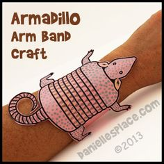 Armadillo Arm Band Craft for Kids www.daniellesplac… Armadillo Arm Band Craft for Kids www. Rodeo Crafts, Cowboy Crafts, Texas Crafts, Armadillo, Wild West Crafts, Desert Crafts, School Fun, Summer School, Summer Days