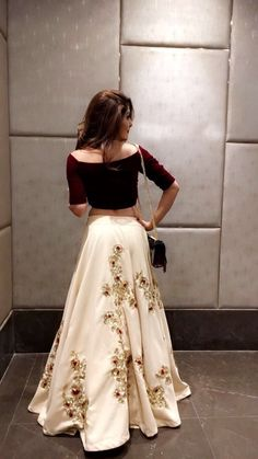 Designer dresses indian - Embroidery work skirt and crop top very stylish dress for any occasion – Designer dresses indian Indian Lehenga, Red Lehenga, Anarkali, Indian Wedding Outfits, Bridal Outfits, Indian Outfits, Lehenga Choli Designs, Lehenga Designs Latest, Lengha Design