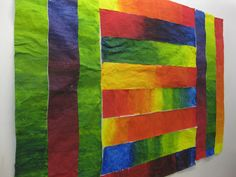 gradation piece. each student makes a strip, pull them all together.