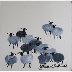 Visited Gunilla Annwall's gallery in Gamla stan, Stockholm -- I love her watercolor sheep -- so fuzzy