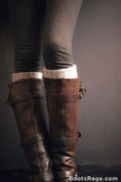 Great autumn boots for racing if its wet weather with a long tweed skirt to the knee. by valentina.d.pasquale.5