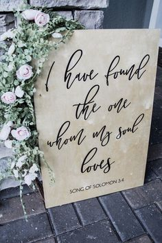 Song of solomon i have found the one whom my soul loves bible verse sign wooden wedding signs wedding sign rustic wedding signs 25 budget friendly simple wedding centerpiece ideas with candles Fall Wedding, Our Wedding, Wedding Venues, Dream Wedding, Wedding Cakes, Wedding Rings, Perfect Wedding, Wedding Photos, Elegant Wedding