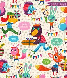 birthday wrap - Helen Dardik
