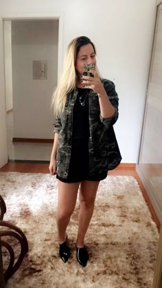 Look do dia com Melissa She e parka militar ❤️