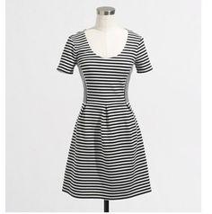 J. Crew Black And White Striped Dress $39