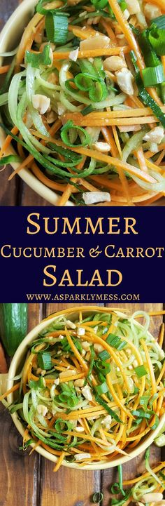 Easy Summer Cucumber and Carrot Salad. Throw it together in a few minutes with just a few ingredients.