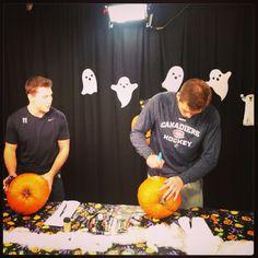 Gallagher and Galchenyuk getting in the Halloween spirit. #HockeyHalloween #HabsTV