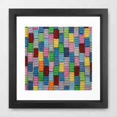 Bricks Zoom Framed Art Print by Project M - $35.00