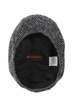 08a758ca0639 Stetson Newsboy Cap, Wool Ivy Hat, Germany Tweed Herringbone