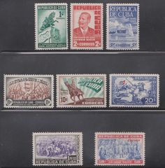 1948 Caribbean Stamps Sc 423-430 Antonio Maceo Birth Centenary Complete Set  MNH
