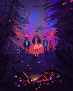 "228 Likes, 23 Comments - Iza Dudzik (@iza.dudzik) on Instagram: ""Fan art Stranger Things.   #strangerthings #fanart #izadudzik #illustration…"""