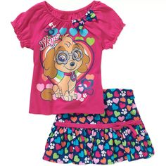 Child of Mine by Carter's Toddler Girl Long Sleeve Shirt and Pant Outfit Set - Walmart.com