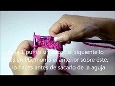 Tutorial cómo tejer Punto Panal - Pearl Knitter - YouTube