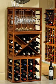 wall mounted wine rack with glass holder | RACK STEMWARE WINE | WINE RACK