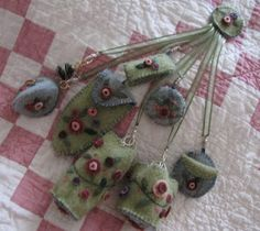 Wool Chatelaine. I designed all the pieces myself.