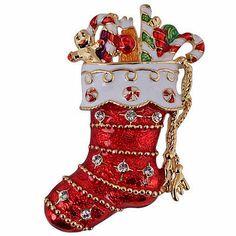 New Kirks Folly Stocking Stuffer Christmas Pin Goldtone | eBay