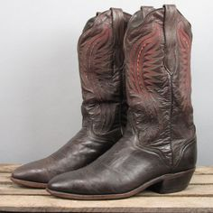 Men&39s El Caporal Mexican All Leather Cowboy Boots size Mex 27.5 US