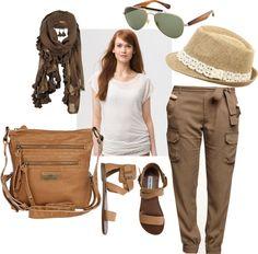 Safari Outfit, created by mcmolina on Polyvore  #KSadventure #KendraScott
