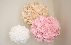 Project Nursery - DIY Tissue Pom Poms