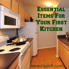Essential Items For Your First Kitchen via ZagLeft