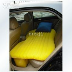 Inflatable car backseat bed...perfect for long car rides.