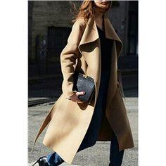 Josepia Camel Sheepwool MD-Long Coat | pariscoming
