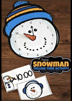 Telling Time Games, Telling Time Activities, Teaching Time, Kindergarten Activities, Activities For Kids, Winter Activities, Preschool, Measurement Activities, Classroom Activities