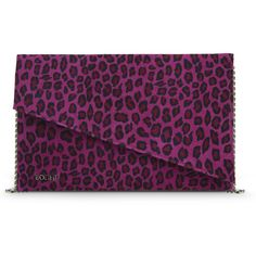 Bodhi Cheetah Printed Suede Convertible Clutch (376774001) (542.430 IDR) ❤ liked on Polyvore featuring bags, handbags, clutches, electric pink, cheetah handbag, purple purse, pink purse, convertible clutch and pink handbags