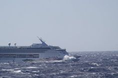 Carnival Dream cruise ship trailing Hurricane Sandy! Hoping for better conditions for our experience.