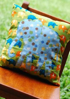 elephant pillow this done with owls