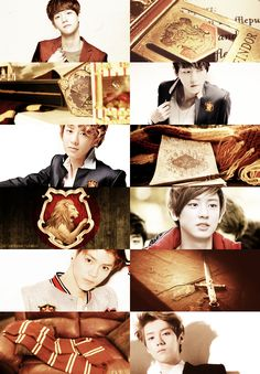 Movie/book edit - Harry Potter (Gryffindor) - EXO/Baekhyun-Chanyeol-Luhan