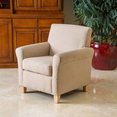 Denise Austin Home Siracusa Natural Fabric Club Chair