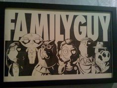 Family Guy parody of The Watchmen displayed at the American Dad offices in LA.