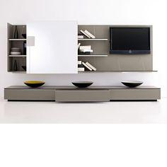 B&B Italia PAB. Een fraai en elegant modulair kastensysteem. Te gebruiken als audiomeubel maar ook als dressoir of boekenkast.