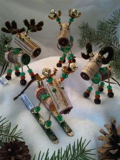 Items similar to VIN de Noël ornement - Winedeer ™-très joyeux Moose-Bighorn Sheep - Sangiovese on Etsy